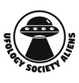 ufology society aliens logo simple style vector image