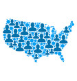 usa map population people vector image