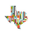 usa texas state pixelated abstract map vector image vector image