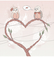 valentines day card cute bird in love vector image vector image