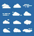 various clouds flat cloud isolated vector image