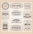 Vintage and old-fashioned labels and signs