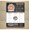 Vintage chalk drawing coffee menu design vector image vector image