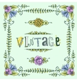 Vintage colored frame vector image vector image