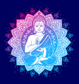 Vintage meditating buddha