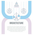 website banner and landing page architecture vector image vector image