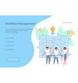workflow management concept vector image vector image