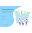 workflow management concept vector image vector image
