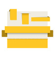 Yellow paper tags - ribbons stripes and bookmars vector image vector image