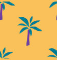 yellow tropical plant palm tree seamless pattern vector image vector image