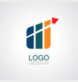 trading business abstract logo vector image