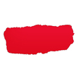 Red Paper Hole vector image