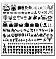 silhouettes of heraldic design vector image