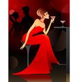 woman at the bar vector image