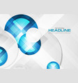 abstract blue geometric corporate concept vector image vector image