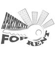 agency fact apartments logo and pictures vector image vector image