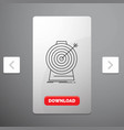 aim focus goal target targeting line icon in vector image vector image