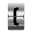 Alphabet silver flipboard letters brackets begin vector image vector image