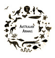 australian animals set sketch for your design vector image vector image