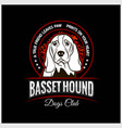 basset hound - for t-shirt vector image vector image
