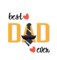 best dad ever necktie mustache white background ve vector image
