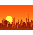 Big city bright sunrise vector image