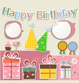 Birthday design elements for scrapbook vector image vector image