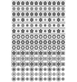 Black and white floral ornaments vector image vector image