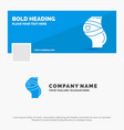blue business logo template for belt safety vector image vector image