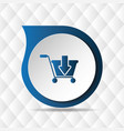 blue cart icon geometric background image vector image vector image