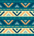 blue stripped tribal geometric pattern vector image vector image