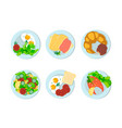breakfast different peoples of the world vector image vector image