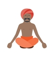 Buddha religion man vector image