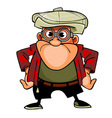 cartoon character man with glasses and a cap vector image vector image