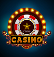 casino light sign vector image vector image