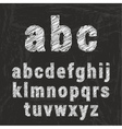 Chalk alphabet on black background ilustration vector image vector image