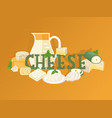 cheese shop typographic vector image vector image