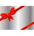 Christmas Ribbon on Silver vector image