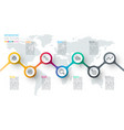 circle label infographic with step steps vector image vector image