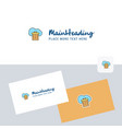 cloud trash logotype with business card template vector image vector image