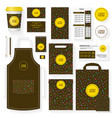 coffee house template set with memphis pattern vector image vector image