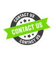 contact us sign us black-green round vector image vector image