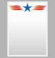 decorative american star patriotic border vector image