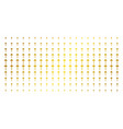 dotted arrow gold halftone pattern vector image