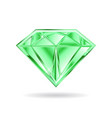 emerald gem on white background graphic vector image