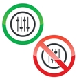 Faders permission signs vector image vector image