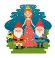 fantastic character fairytale cartoon vector image vector image