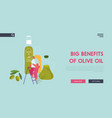 farmers natural oil product website landing page vector image vector image
