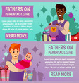 fathers parental leave orthogonal banners vector image vector image