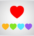 five color heart icon vector image